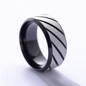 Hot Sell Stainless Steel Women's Diamond Ring 2mm Jewelry Micro Inlaid Ring