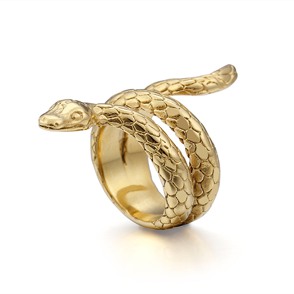 Punk Hip Hop Style Cobra Shape Men's Ring Jewelry Featured Image
