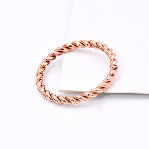 Fashion Letter Ring Titanium Steel Vacuum Plated Rose Gold Love Rings