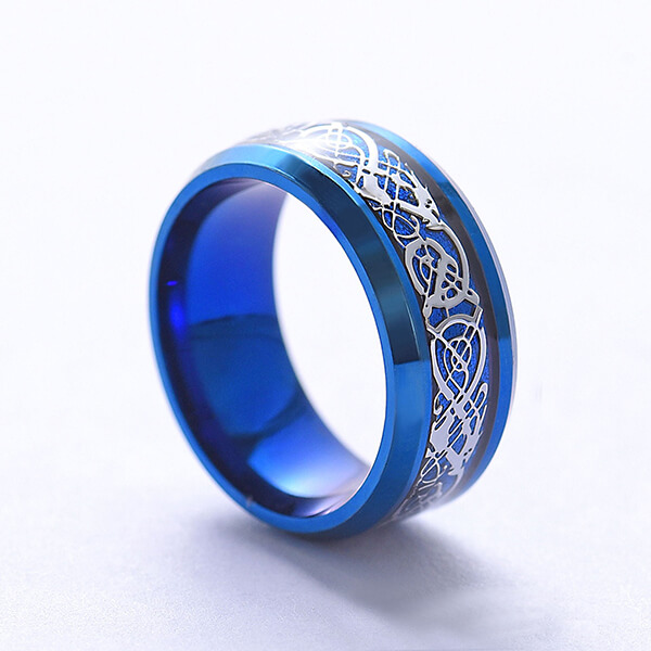 Ethnic Style Retro Buddhist Fashion Simple Men's Stainless Steel Rings Featured Image