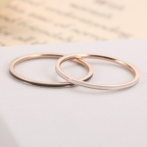 1mm Titanium Band Knuckle Stacking Midi Rings for Women Girls Comfort Fit
