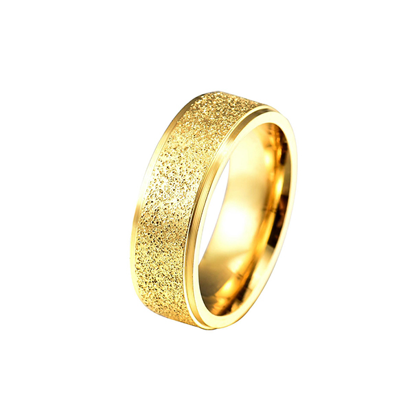 High reputation 24k Gold Wedding Rings - New Double Beveled Four-Color Frosted Stainless Steel Couple Ring – Ouyuan