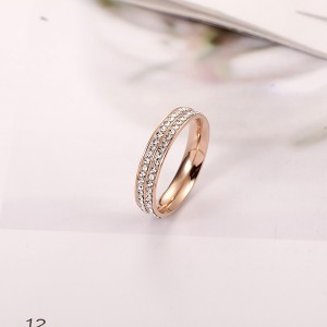 Personality Rose Gold Peach Heart Shaped Love Sweet Lady Ring