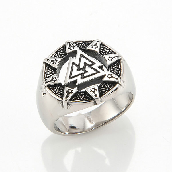 Finger Rings Pyramid Triangle Solid Old Style Amulet Retro Ancient Symbol Rings Featured Image