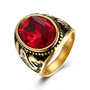 Trendy Diamond Ring Ruby Jewelry Party Essentials