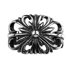 Retro Style Carved Pattern Geometric Personality Ring for Unisex