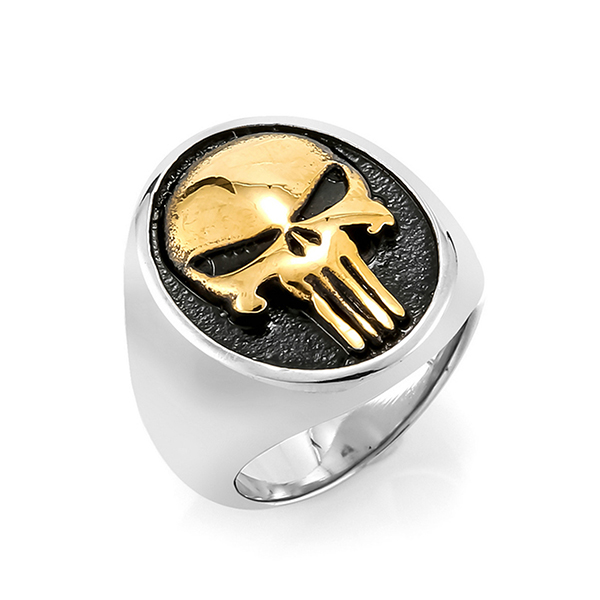 Stainless Steel Skull Rings for Men Boys Jewelry Chic Punk Skull Head Featured Image