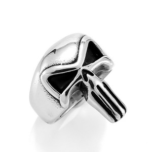 Fashion Male Jewelry Rings 316L Stainless Steel Skull Punisher Ring for Men