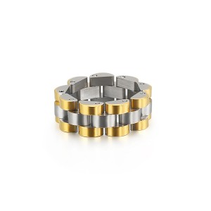 Watch Chain Design Hip Hop Jewelry Stainless Steel Ring