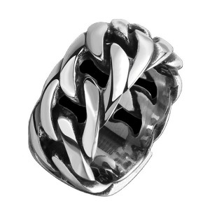 Hot Sell Retro Punk Style Braided Stainless Steel Men's Ring