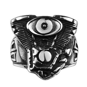 Hot Selling Punk Jewelry Creative Demon Eye Ring for Men