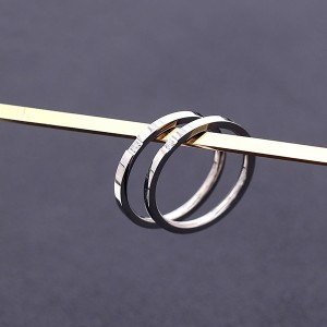 Wholesale Women and Mens Jewelry Simple Hip Hop Fashion Stainless Steel Rings