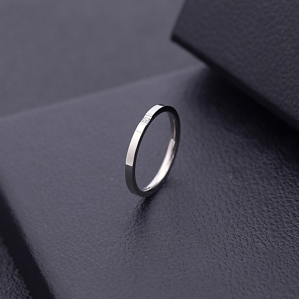 Newly Arrival His And Hers Wedding Bands - Hot Sell Stainless Steel Women's Diamond Ring 2mm Jewelry Micro Inlaid Ring – Ouyuan