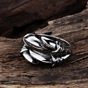 Irregular Dragon Claw Stainless Steel Ring Punk Style