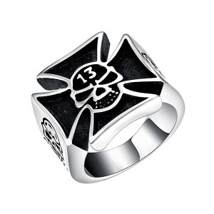 Vintage Style Cross Ring Stainless Steel Titanium Men Ring