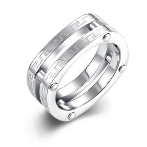 New Arrivals Double Ring Hollow Jewelry Unisex Ring