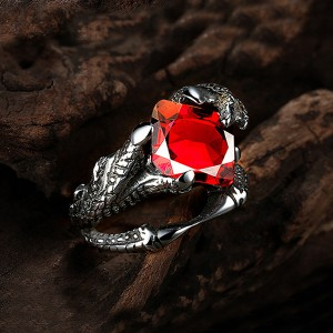 High Quality Personalized Magic Claw Inlaid Zircon Vintage Ring