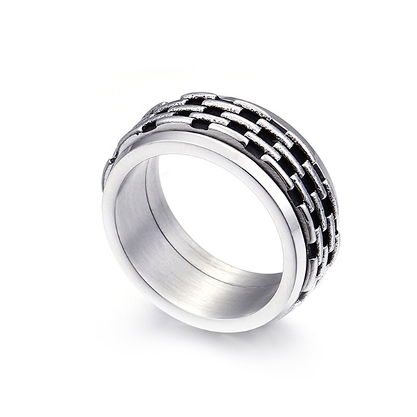 Personalized Classic Stainless Steel Men's Vintage Ring for Sales Featured Image