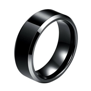 Fashion Jewelry Tungsten Carbide Ring Polished Plain Comfort Fit Wedding Engagement Band