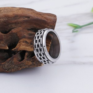 Personalized Classic Stainless Steel Men's Vintage Ring for Sales