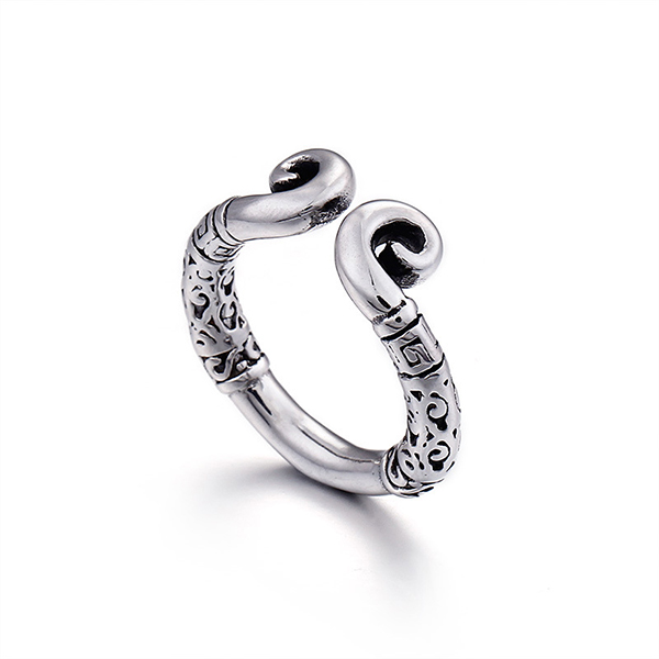 True Love Journey to the West Stainless Steel Ring Men Featured Image