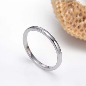 2mm Tungsten Steel Prime Comfort Fit Unisex Wedding Band Ring