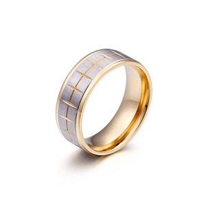 Classic Black Gold Couple Stainless Steel Ring for Hot Sell