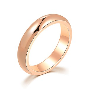 Multi-Color Selection of Simple Titanium Steel Rings for Men and Women