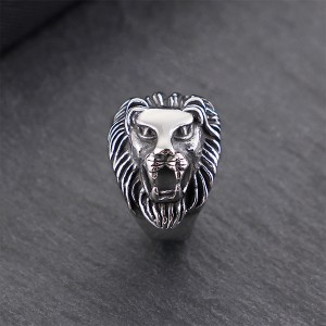 Trendy Retro Hip Hop Punk Style Wolf Stainless Steel Ring
