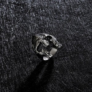 The Factory Stainless Steel Simple Jawless Skull Ring High Polished