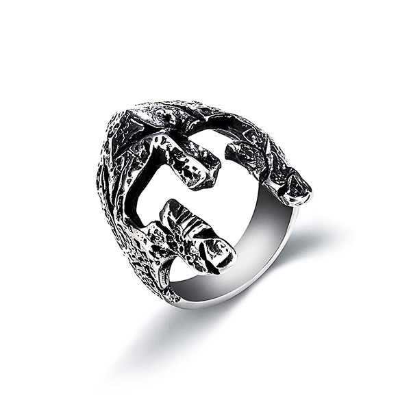 The Factory Stainless Steel Simple Jawless Skull Ring High Polished Featured Image