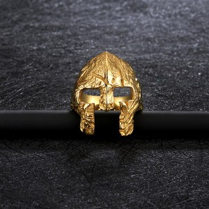 Factory High Quality Stainless Steel Simple Jawless Skull Ring Gold Plated