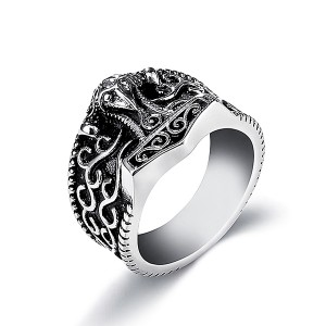 Benedict Exorcism Stainless Steel Ring Demon Protection Ghost Hunter