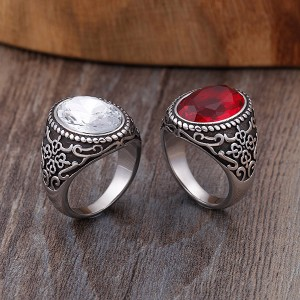 Retro Shaped Titanium Stainless Steel Ring for Men and Women