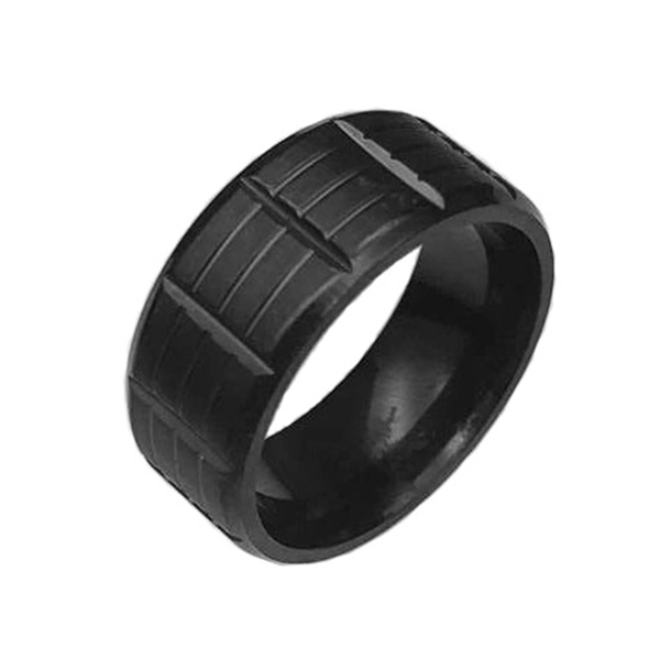 professional factory for Blue Tungsten Carbide Rings - Black Stainless Steel for Men Women Cool Wedding Bands Rings  – Ouyuan Featured Image