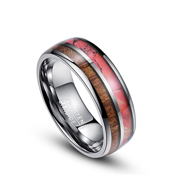 Special Design for Will Tungsten Rings Rust - Customized Double-Slotted Wood Grain Men's Tungsten Ring – Ouyuan Featured Image