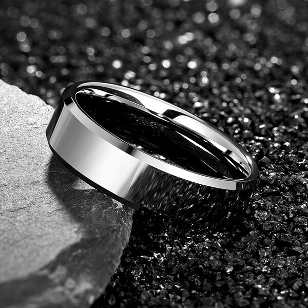 Factory directly supply Tungsten Ring Laser Engraving - Men's 4mm/5mm/6mm/7mm/8mm Tungsten Carbide Ring Polished Plain Comfort Fit Wedding Engagement Band – Ouyuan