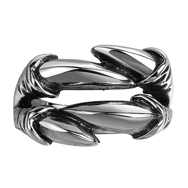 Irregular Dragon Claw Stainless Steel Ring Punk Style Featured Image