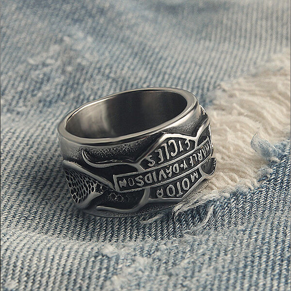 Factory Price Tungsten Ring King - Nordic Rune Amulet Ring Stainless Steel Retro Punk Style Mens Rings – Ouyuan