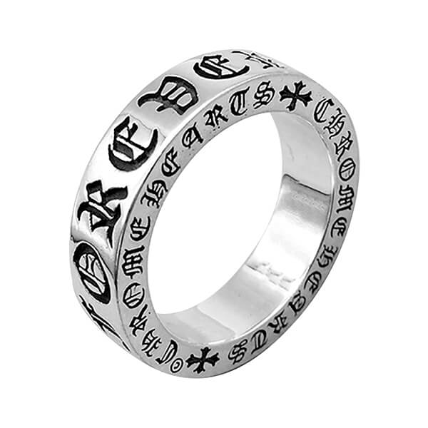 6mm Celtic Titanium Rings for Men Polished-Finish Fashion Style Silver Band Featured Image