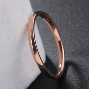 2mm Titanium Steel Classical Plain Stackable Wedding Band Ring