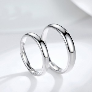 Silver Plated-Tone Domed High Polished Plain Tungsten Wedding Ring Band for Men&Women