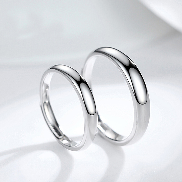 Factory Promotional Tungsten For Ring - Silver Plated-Tone Domed High Polished Plain Tungsten Wedding Ring Band for Men&Women – Ouyuan