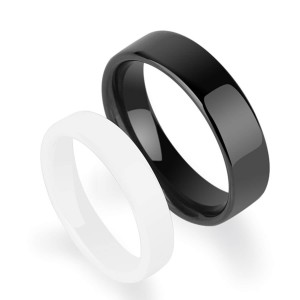 Wholesale Fashion Men's Jewelry Rings Black Hi-Tech Ceramic Rings for Men and Women