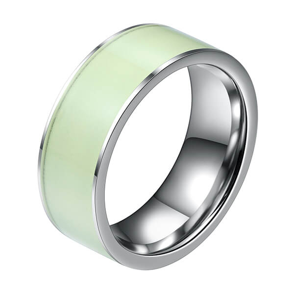 One of Hottest for Tungsten Rose Gold Band - Cool Style Glow In The Dark Luminous Tungsten Rings For Men – Ouyuan