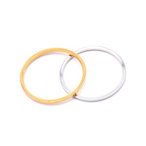 Simple 1MM Ultra-Fine Stacked Titanium Steel Ring for Women